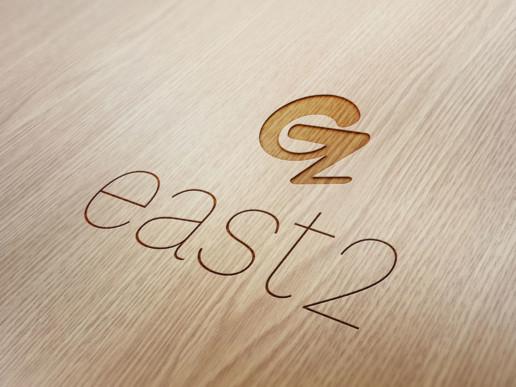 East 2 logo design