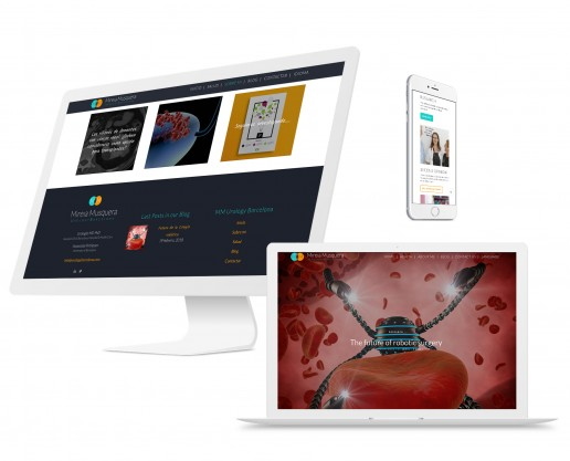 mm urology Barcelona - website design