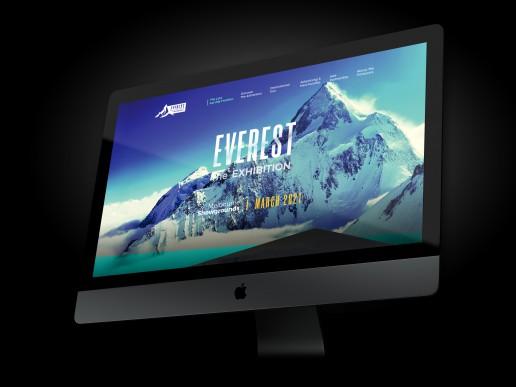 everest the exhibition -concept design - Branding Website
